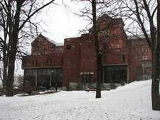 memorial hall in winter